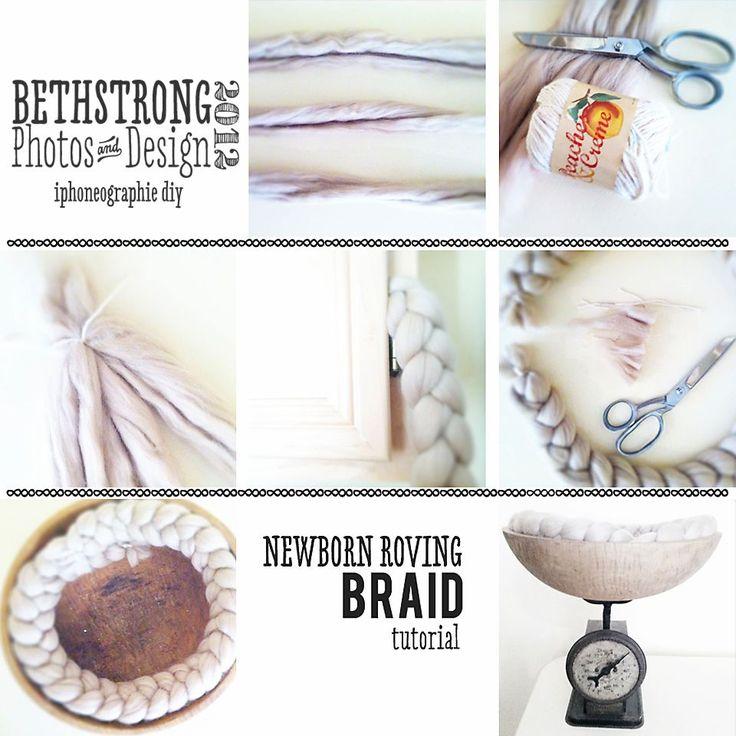 newborn braid/pretzel positioning prop tutorial.