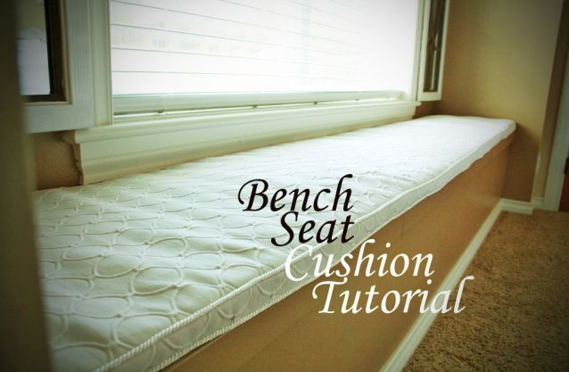 Diy Bench Seat Cushion Tutorial Sewing Projects