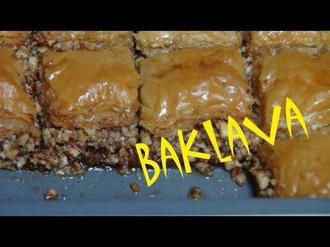 Receta De Baklava (Belewe, Beklawe) - The Frugal Chef - YouTube