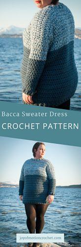 Bacca Sweater Dress Crochet Pattern