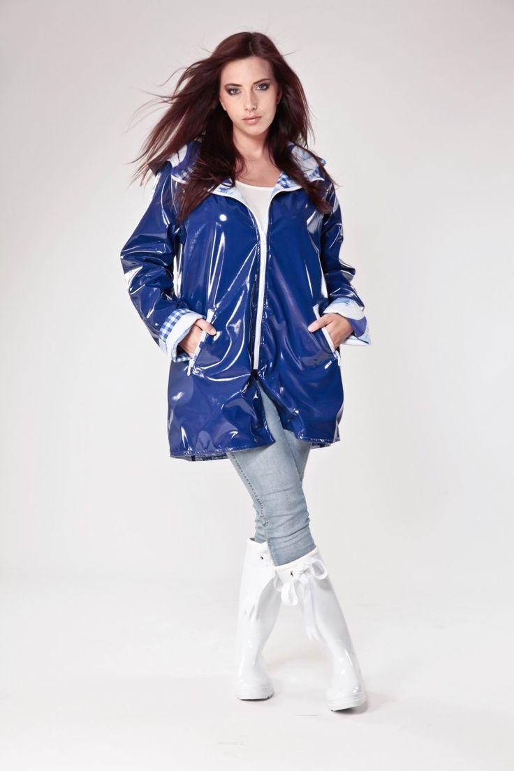 Blue PVC Raincoat  A VESTIR DE LATEX 4  Pinterest  Klepper, Regenmantel und Pvc regenmantel