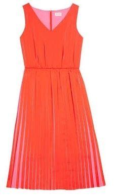 Gorman pink and red pleat silk dress