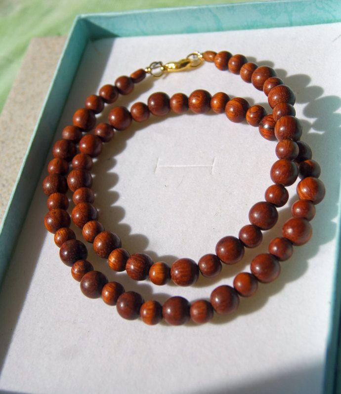 Bayong Beaded Wooden Set. Necklace, Bracelet and Earrings 10mm and 6 mm, Beaded Set, Bayong Beads, Bayong Bracelet by JewelleryInspired4U, $51.00 USD