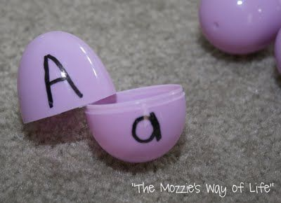 When learning how to read, letter recognition is crucial. These eggs provide a fun way to engage the students in practicing letter recognition of upper and lowercase letters.