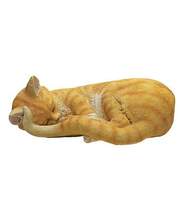 This Cat Nap Sleeping Kitten Figurine is perfect! #zulilyfinds