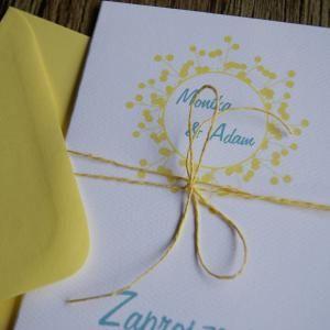 Zaproszenie ślubne - SUMMER,  Summer wedding invitation www.SweetPrint.pl