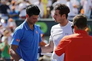 """LE ULTIME SU ANDY MURRAY E NOVAK DJOKOVIC Anche Andy Murray non giocherà al """" Miami Open"""". A causa di un problema al gomito destro , lo scozzese ha annunciato attraverso la sua pagina facebook il suo forfait per il secondo """"1000"""" della #tennis #grandslam #murray #djokovic"""