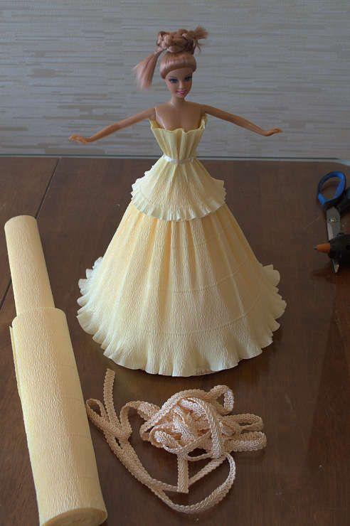 Делаем куклу из конфет своими руками. Шаг 12