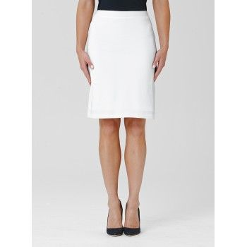 Mela Purdie Mid Double Skirt This soft double tube skirt is one of our best-selling styles. Cut for a close fit and featuring a comfortable elastic waist, balance yours with a loose knit or soft tailored shirt for a flattering silhouette. #melapurdie  #redworks