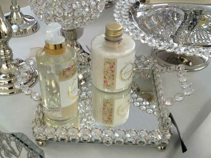 Decor lavabo bandeja de cristal toque de delicadeza - Bandejas de cristal ...