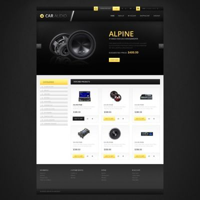 Responsive Car Audio Store Bootstrap OpenCart Template