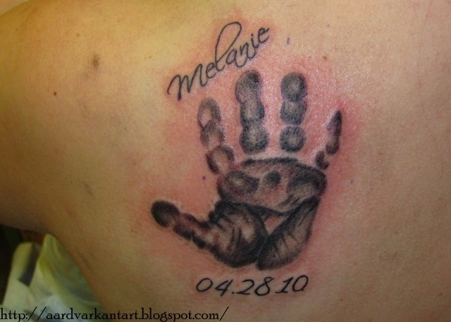Baby Handprint Tattoos