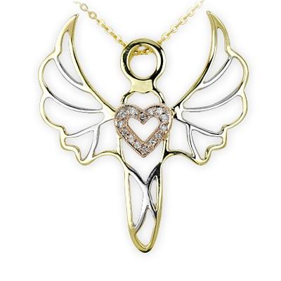 Sevgi O'nun gücünün kaynağıdır. Cebrail altın pırlanta kolye