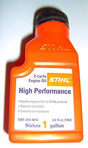 Product review for High Performance 2 cycle Engine Oil 1.6 ounce MAKE 1 GALLON STIHL 0781-319-8014 ..#G4E435T1 34452-3T173946. High Performance 2 cycle Engine Oil 1.6 ounce MAKE 1 GALLON STIHL