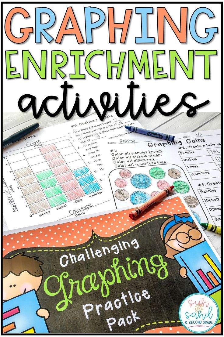 These graphing activities are perfect for enrichment! They would make great homework sheets, math center activities, small group activities - you name it! Make sure to include these in your graphing unit!