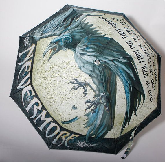 Hey, I found this really awesome Etsy listing at https://www.etsy.com/listing/219756870/the-raven-book-umbrella