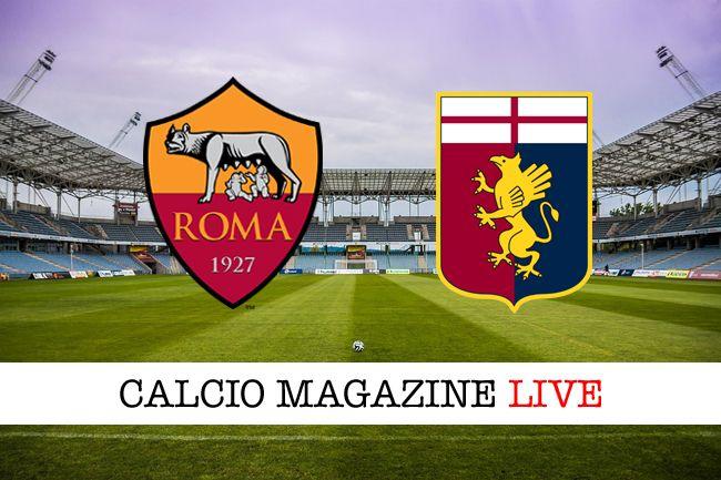 Roma-Genoa risultato in diretta e tabellino in tempo reale