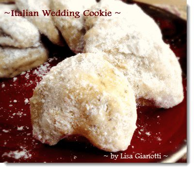 The Italian Wedding Cookie Recipe   is one of the easiest Italian cookie recipes!With no eggs and a few ingredients.See  over 235 Italian dessert recipes with photos.