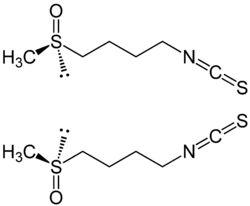 Strukturformeln der Sulforaphan-Enantiomere  https://www.kallmeyer-naturheilpraxis.de