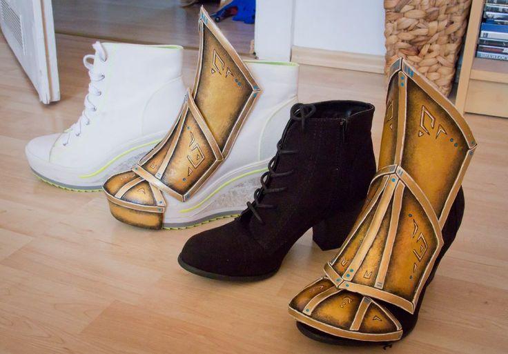 Worbla Shoe/Boot covers (Kamui Cosplay protip).