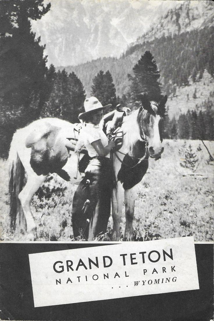 Vintage 1940's Travel Guide - Grand Teton National Park, Wyoming by 20thCenturyCool on Etsy