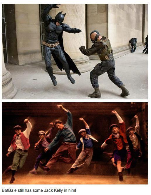 Can't take the Newsies out of batman- I don't like batman, but this is so funny!