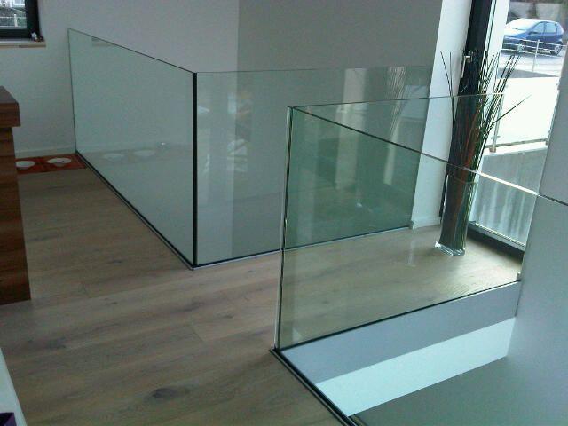 barandillas con vidrio templado.