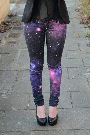 Take your jeans to an intergalactic level with DIY galaxy pants.