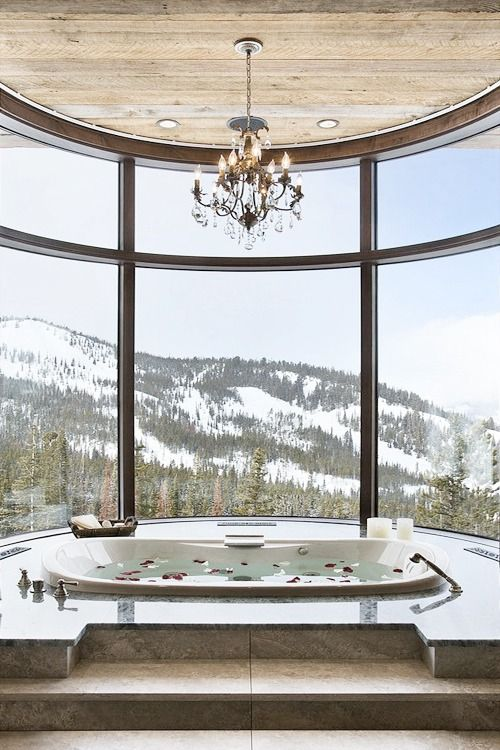 What a view from that tub!