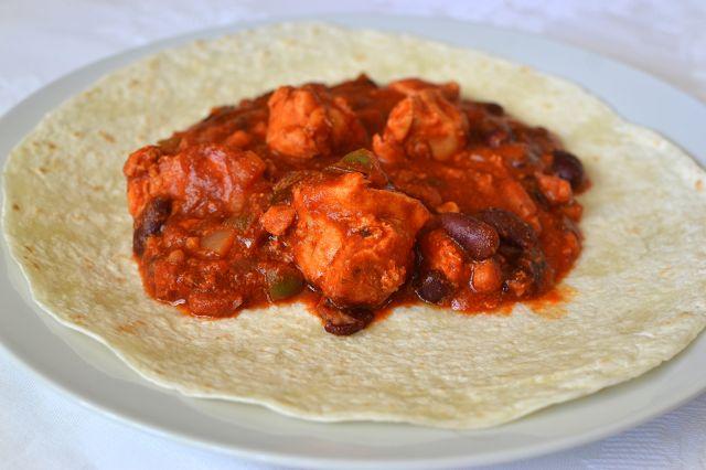Palavras que enchem a barriga: Fajitas de frango e feijão para uma excepção deliciosa :D