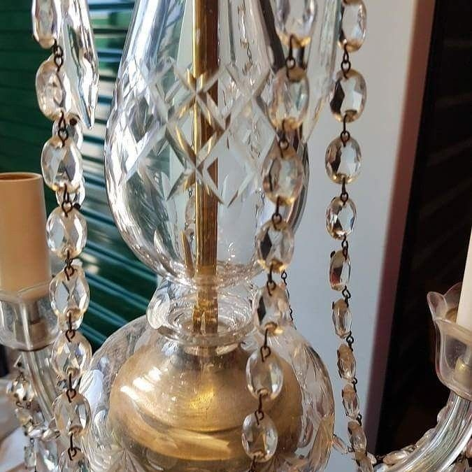This stunning chandelier is in our current online auction - it's worth a TON! an amazing find for the lucky winner, bid today! http://auction.blackpearlemporium.ca/auction/40/item/stunning-brass-glass-and-crystal-3-lamp-chandelier-3000-value-1238