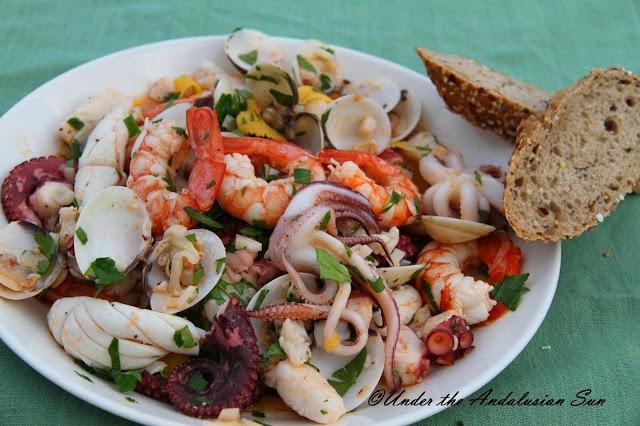 Salpicon de Marisco - marinated seafood
