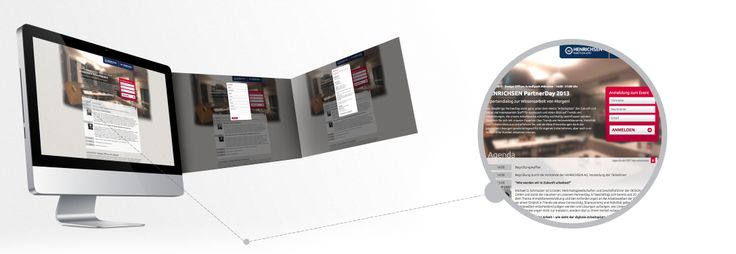 Branding und Design sowie Entwicklung Microsite für den HENRICHSEN PartnerDay.