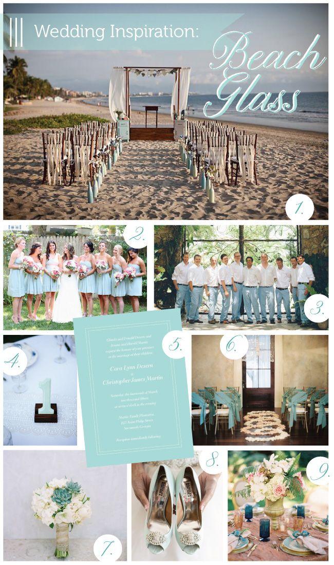 Beach Glass Wedding Inspiration via Delphine