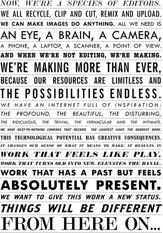 Manifesto for Visual Culture by Les Rencontres d'Arles