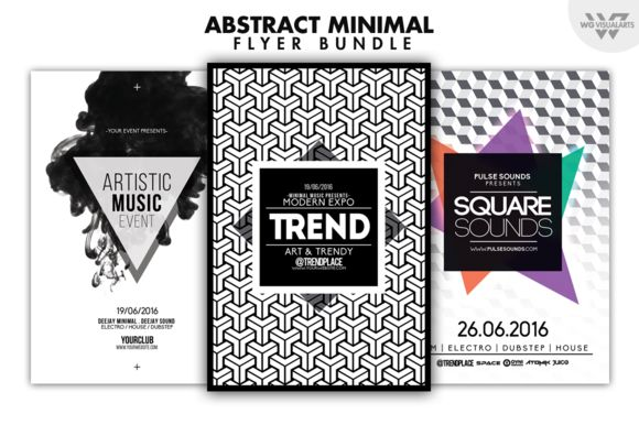 ABSTRACT MINIMAL Flyer Bundle by WG-VISUALARTS on Creative Market