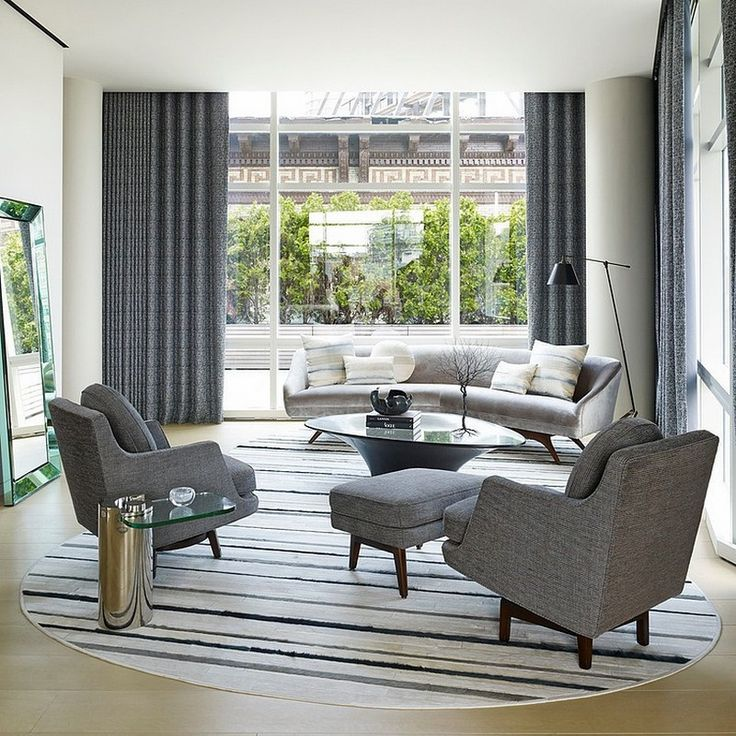 Sprawling Tribeca Triplex Boasting Mid Century and Modern Design Elements    Home Decorating Inspiration. 17 Best images about living room on Pinterest   Off center