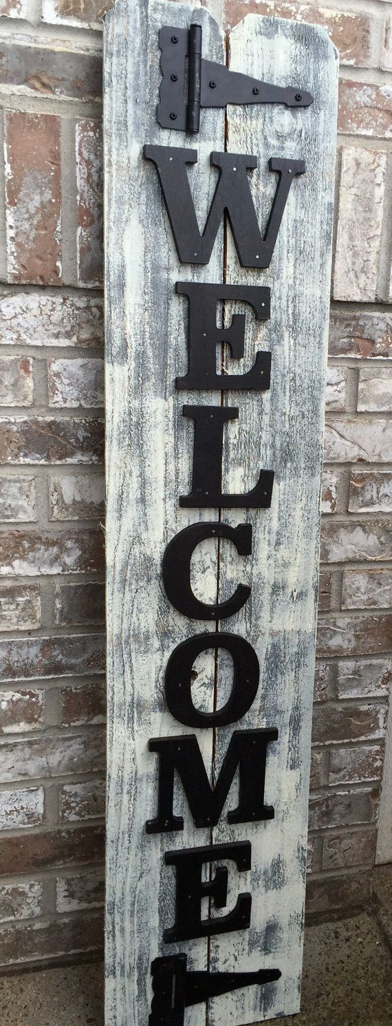Front Porch Welcome Sign Vertical Home Decor Porch