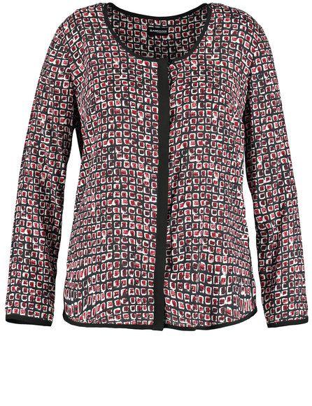 De licht uitlopende snit en het kleur-intensieve design onderstrepen de trendy style van deze blouse. Vloeiende viscose kwaliteit. Lengte ca. 68 cm in...