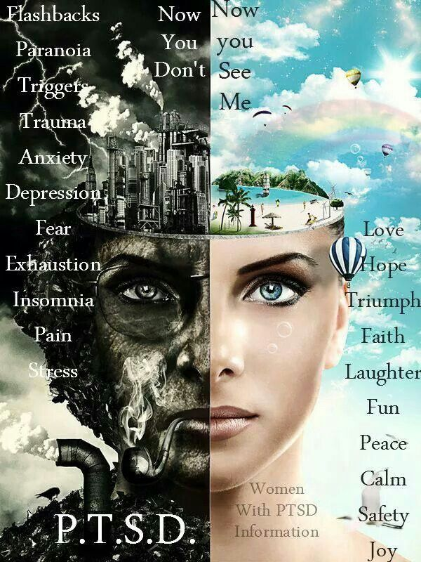 post traumatic stress disorder. This is such a wonderful visual. This is exactly what its like.