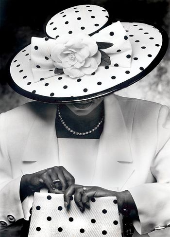 "A Symbol of Success Hats also served as status symbols. ""Once you got up on your feet and started working, you bought some hats,"" said boutique owner Audrey Easter, in Michael Cunningham and Craig Marberry's book, Crowns. Many women match their hats with their pocketbooks and gloves."