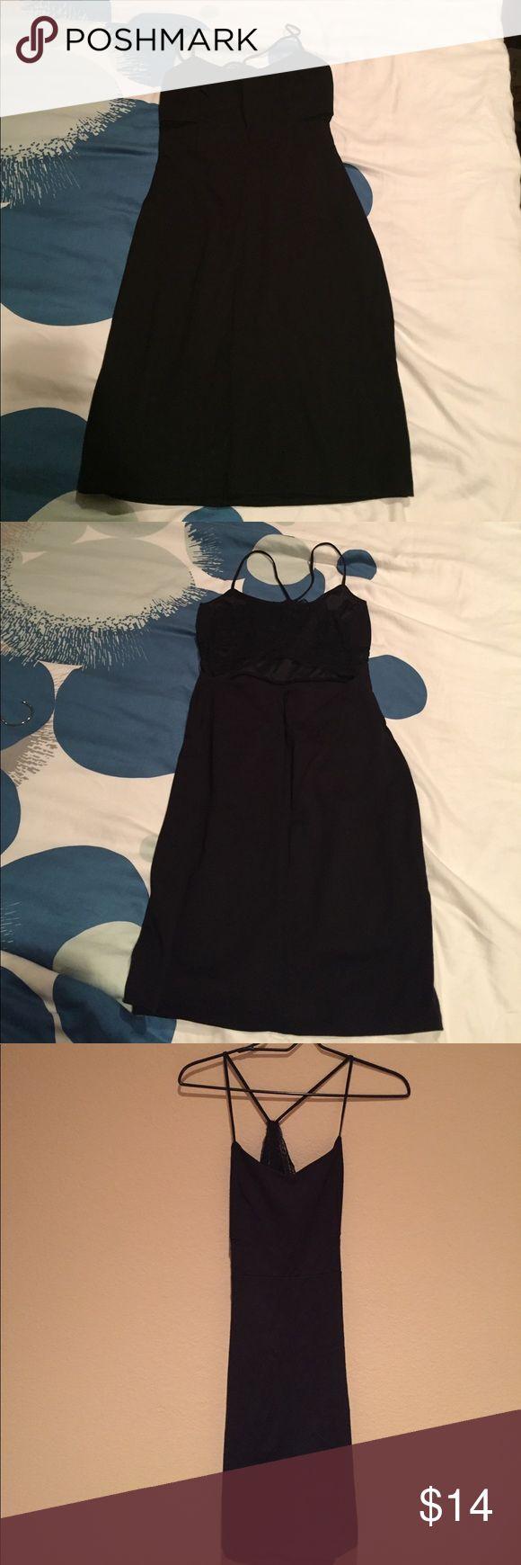 Sexy little black dress Express black lace back, spaghetti strap mini dress Dresses Mini