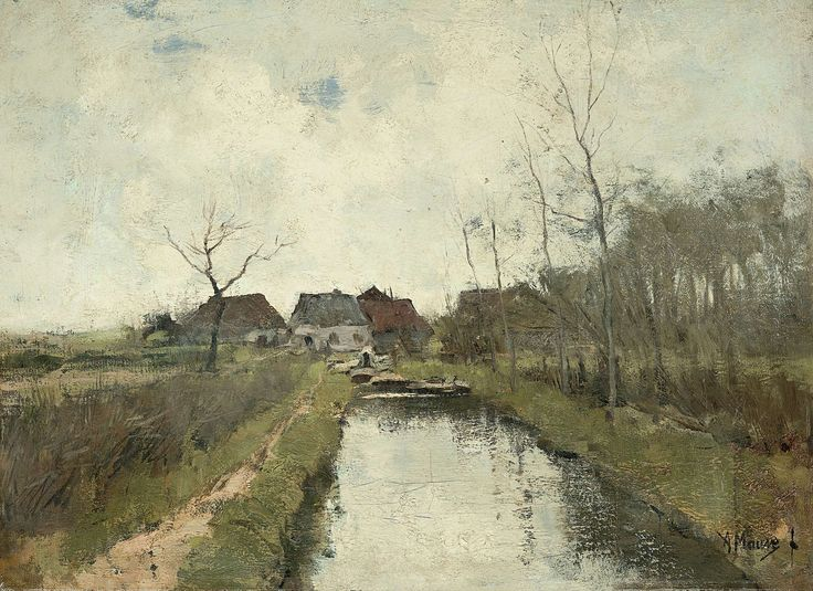 Huisje aan een sloot, Anton Mauve, 1870 - 1888
