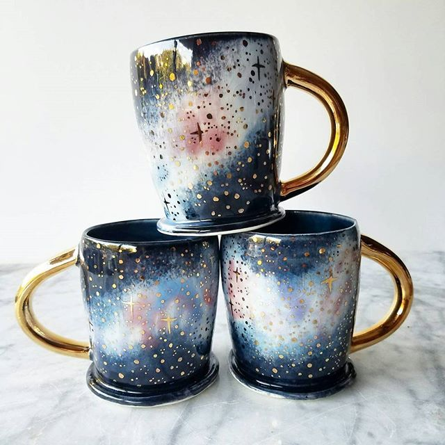 I have a few galaxy themed pieces available in my studio this weekend! If you're local come on by and choose something in person :) I'll be in the studio today from about 3pm until 7 ish. I'd love to meet you! DM for details and come on by! I'll also have a few hours tomorrow and SUNDAY. What ever is left will be put in my etsy shop on MONDAY August 15th at 3pm PST! #ceramics #pottery #porcelain #etsysale #galaxy #studiosale #openstudio #meetngreet