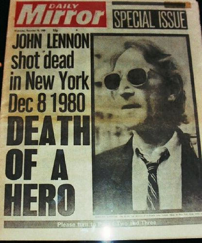 John Lennon shot dead (December 8, 1980) - i remember exactly where i was and what i was doing when the DJ on the radio announced this. i broke down in tears for the first time over someone i don't even know. Thanks for sharing this, I cried too and I still miss him.