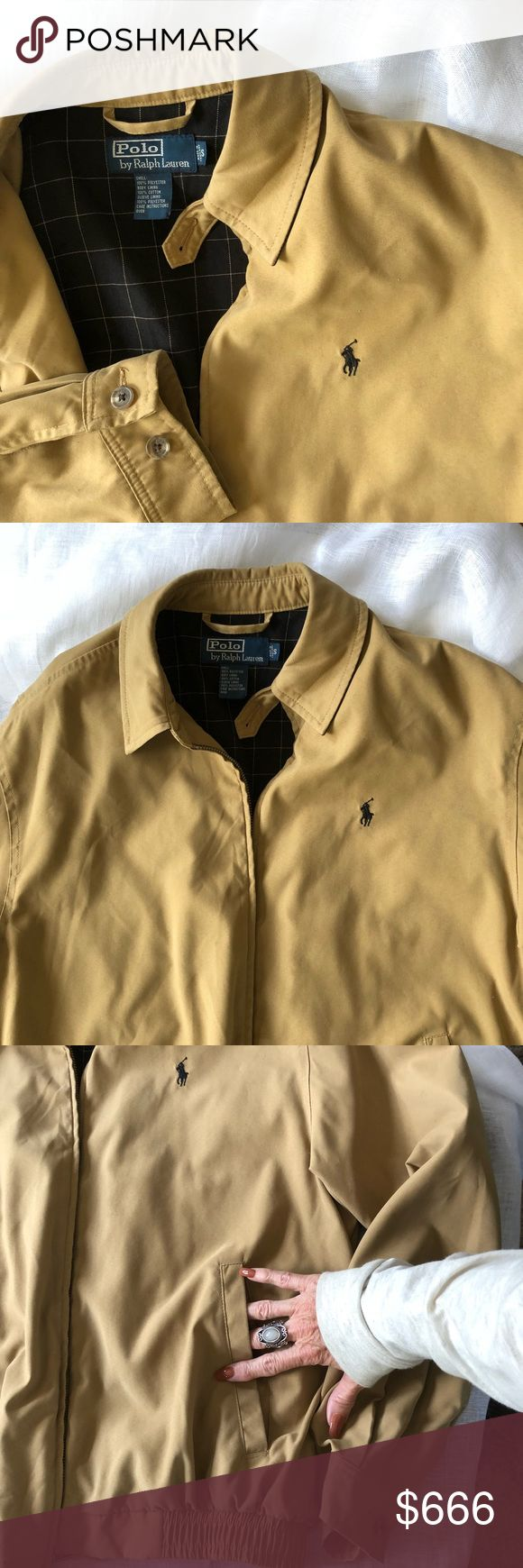Ralph Lauren light weight, lined full zip jacket Doeskin
