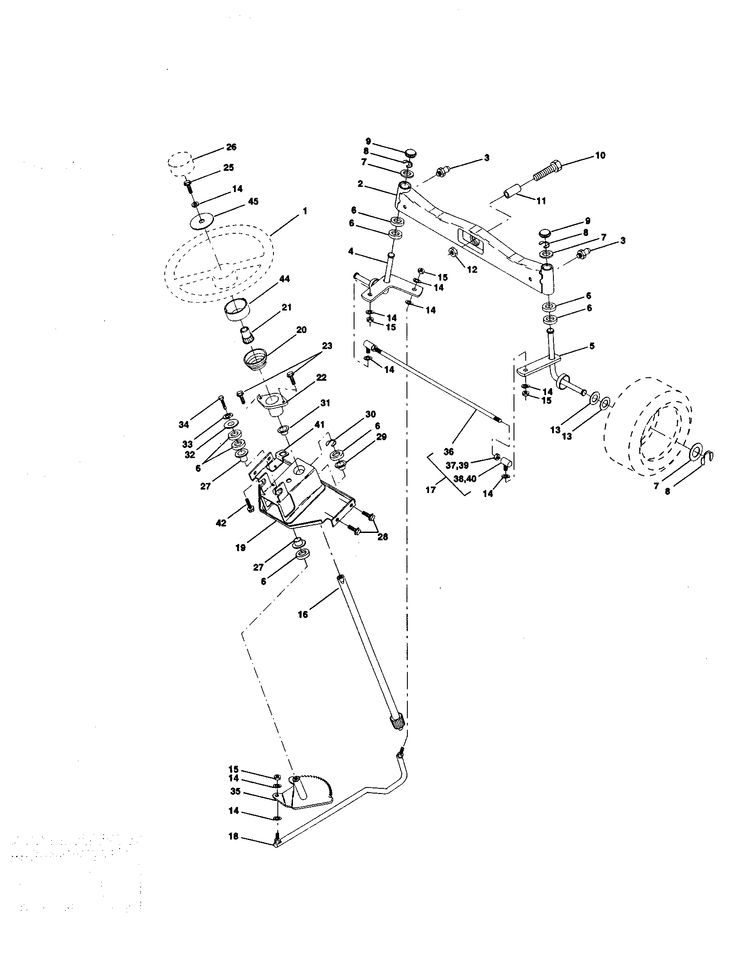 STEERING ASSEMBLY Diagram & Parts List for Model 917273070