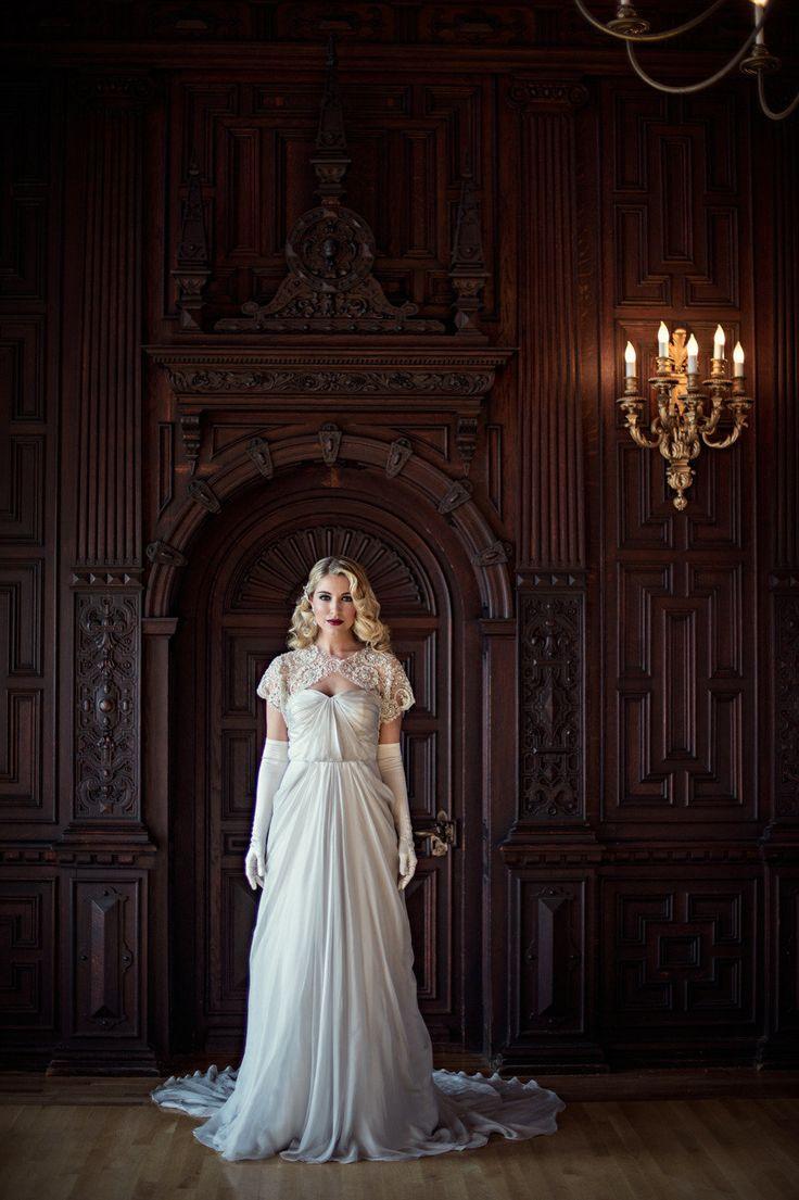 White dress by the shore - Great Gatsby Inspired Shoot From Jubilee Events Carla Ten Eyck Beth Chapman