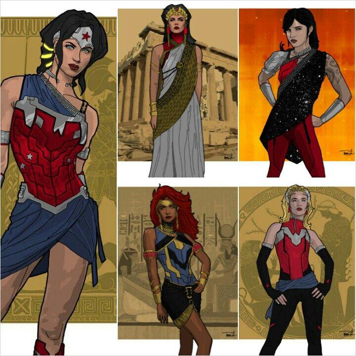 Women Of Wonder   Diana, Hippolyta, Donna, Artemis & Cassie •TS Branch