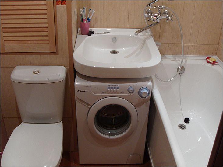 Дизайн ванной комнаты в хрущевке со стиральной машиной